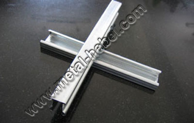 cross frame & metal batten